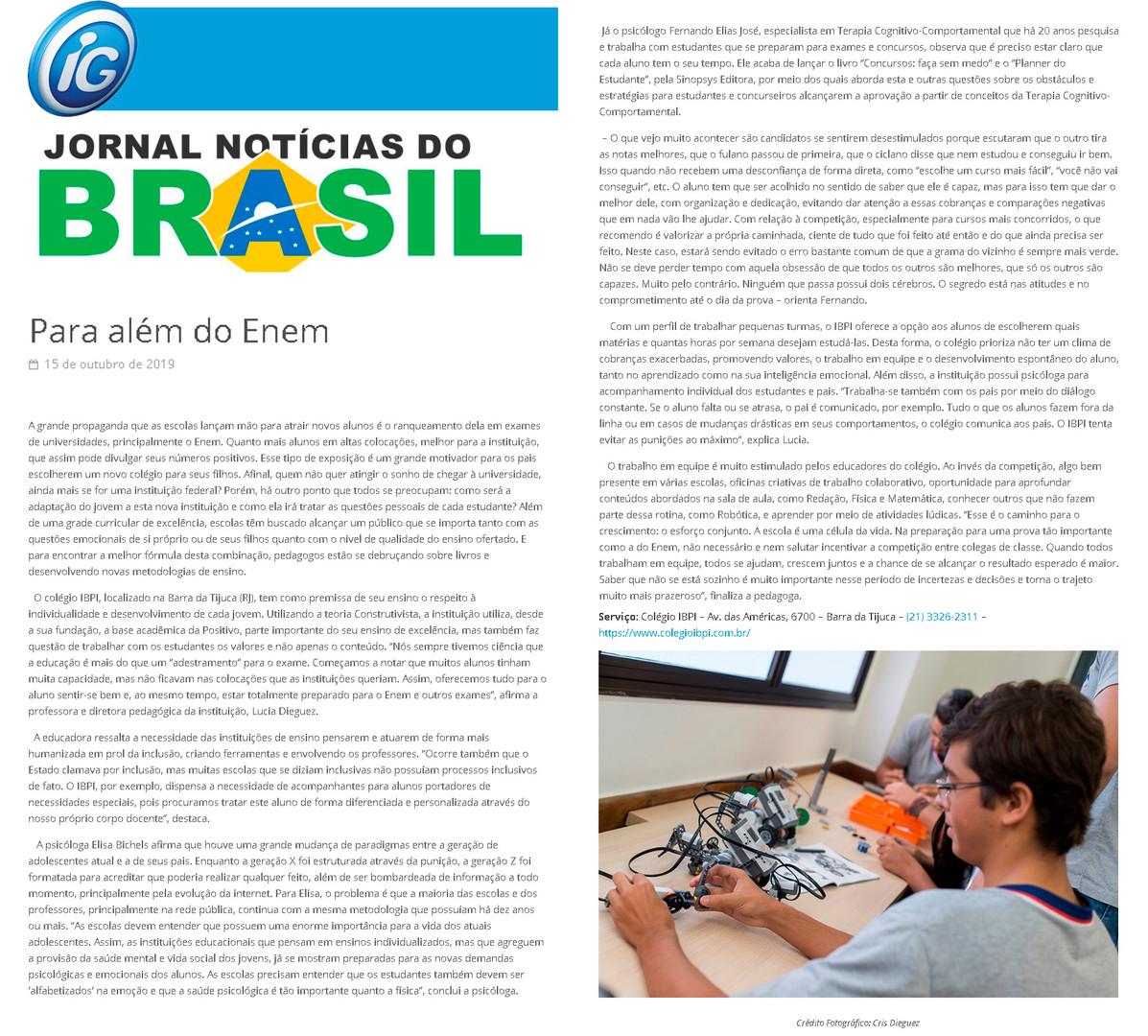 Portal IG - Jornal Notícias do Brasil