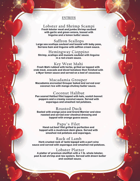 Parrot Key Valentine's Day menu-2021-bac