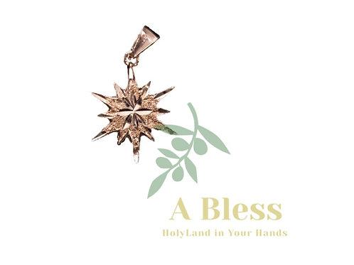 Star of Bethlehem Rose Gold Pendant
