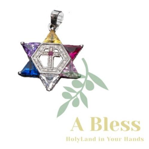 Star of David with Cross Diamond Pendant
