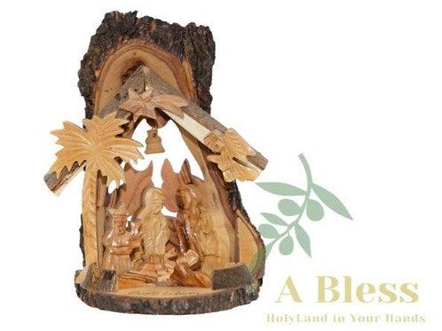 Hand Carved Olive Wood Nativity Scene