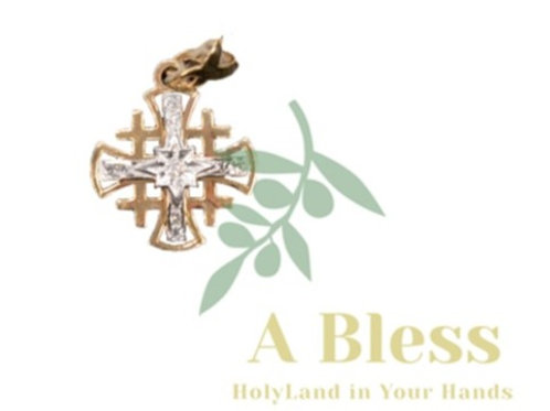 Jerusalem Cross with Small Diamond Cross in the Middle Pendant