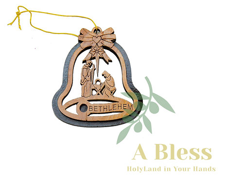 Olive Wood Holy Family Ornaments