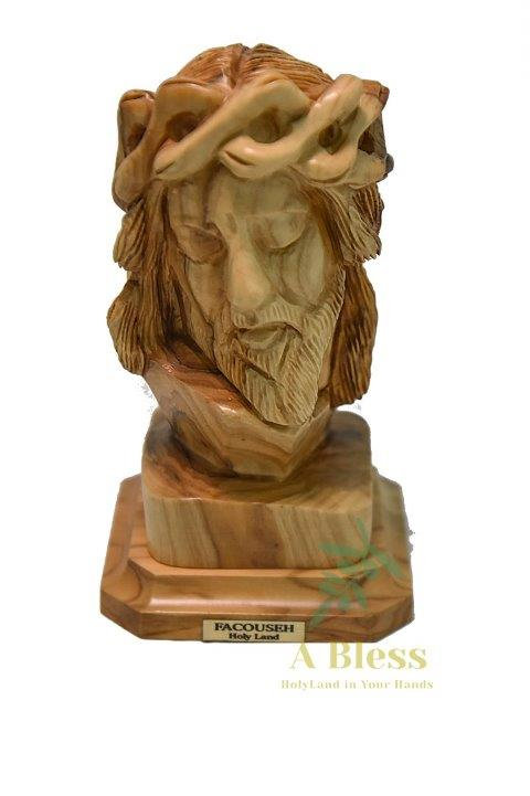 Olive Wood Jesus Head Small