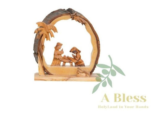 Hand Craved Olive Wood Nativity Scene