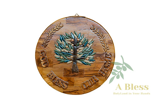 God Bless our Home with The Tree of Life - Wall Hanging