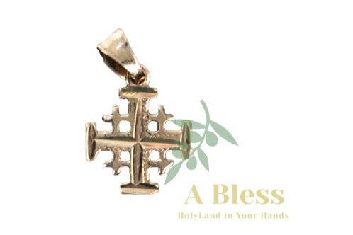 Jerusalem Cross Gold Pendant