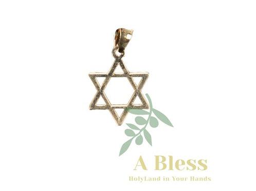Star of David Gold Pendant