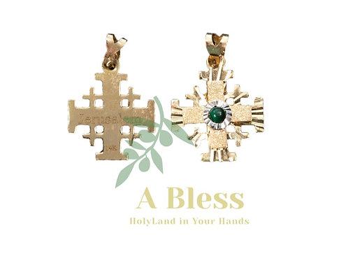 Jerusalem Cross with Eilat Stone