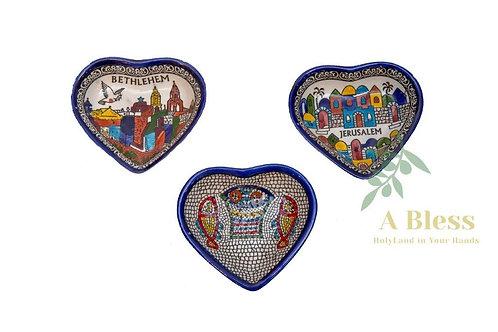 Heart Shaped Ceramic Dish