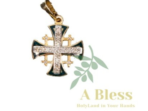 Jerusalem Cross with Small Diamond Cross in the MiddlePendant