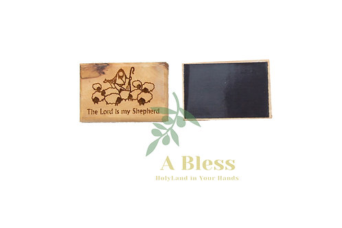 "Olive Wood ""The Lord is my Shepherd"" Magnet"