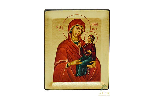 Saint Anna Hand Painted Icon on Canvas  (S)