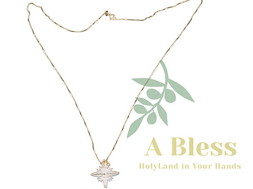 Star of Bethlehem Diamond Pendant with Gold Necklace