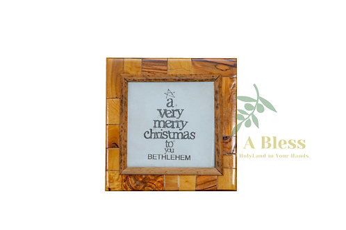 "Olive Wood ""Merry Christmas"" - Wall Hanging"