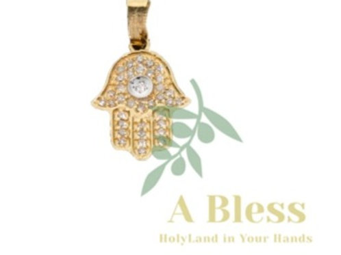 Diamond Hand Palm Pendant