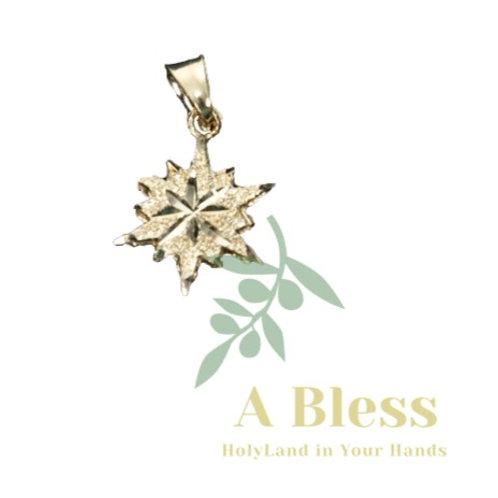 Star of Bethlehem Gold Pendant