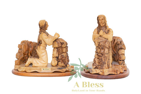 Olive Wood Praying Statue