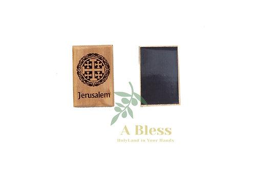 olive wood Jerusalem Cross Magnet (B)