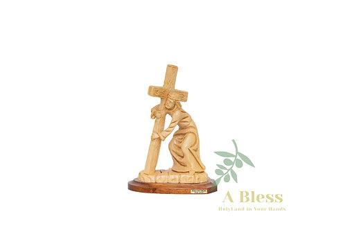 Jesus Holding the Cross Statue