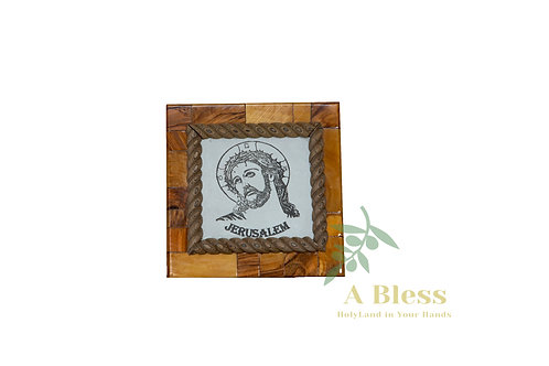 Olive Wood Jesus Wall Hanging Plaque