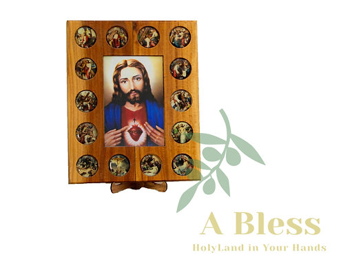 Stations of the Cross Wooden Frame