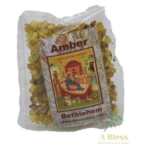 Amber Frankincense Incense Small Plastic Pack