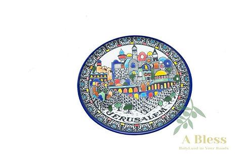 Ceramic Jerusalem Plate