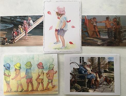 'People' pack of greetings cards