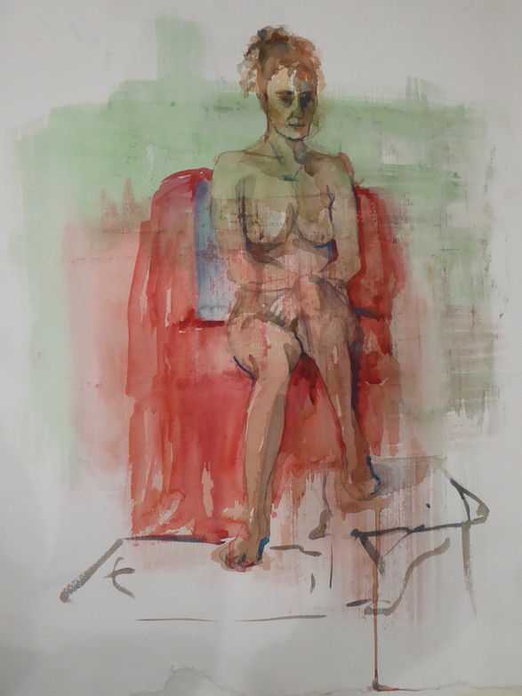 Red chair life study