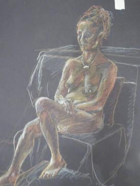 Pastel life drawing
