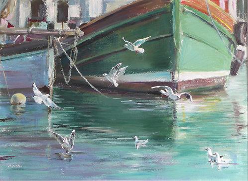 """""""Gulls on the Deben"""""""