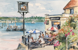 Painting at Pin Mill