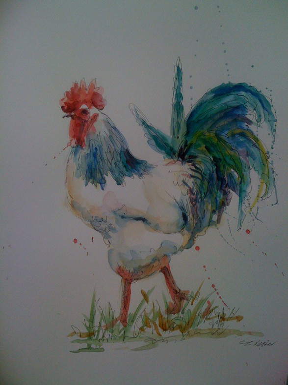Line and wash cockeral