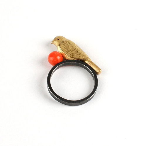 Bird and ball ring