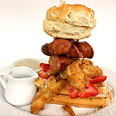 Southern Fried Chicken & Sausage Waffle