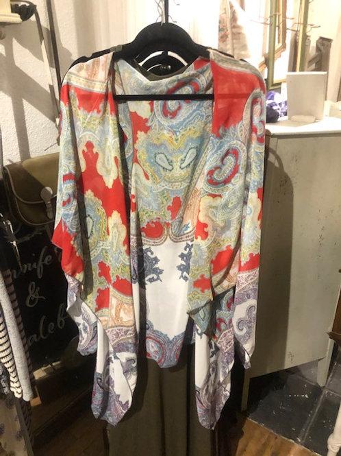Kimono-Red &Grey