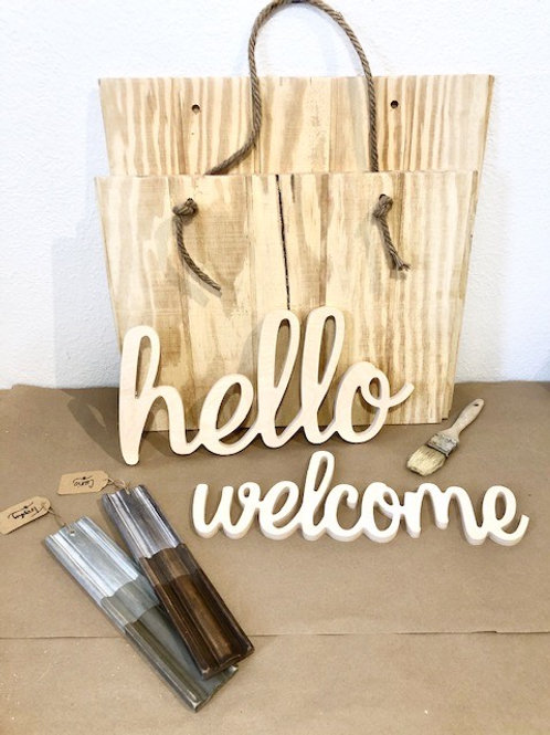 Jute Rope Welcome Sign