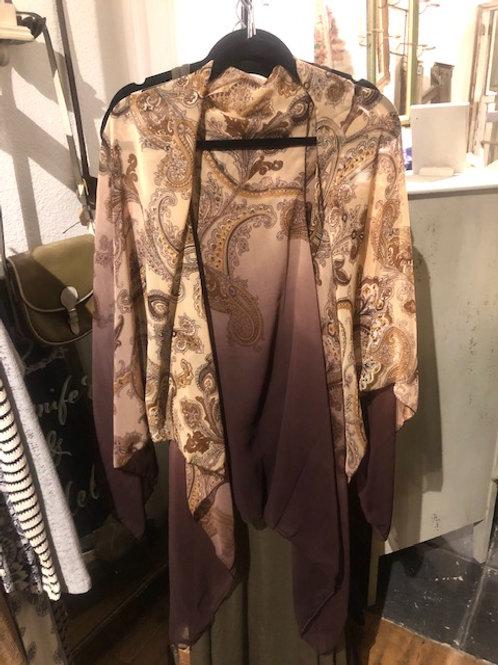 Kimono-Tan Paisley