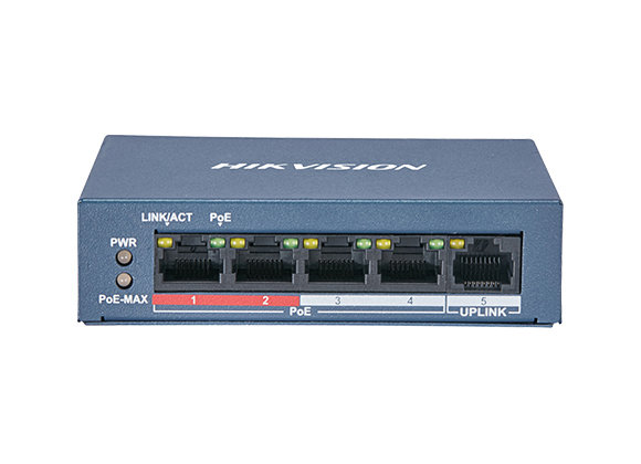 Switch 4 ports POE Hikvision DS-3E0105P-E/M(B)
