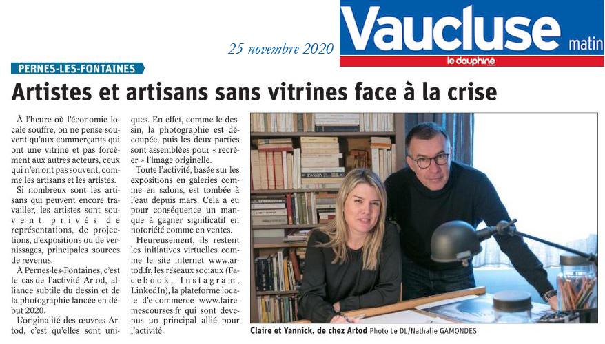 Dauphiné - Vaucluse matin du 25 novembre 2020