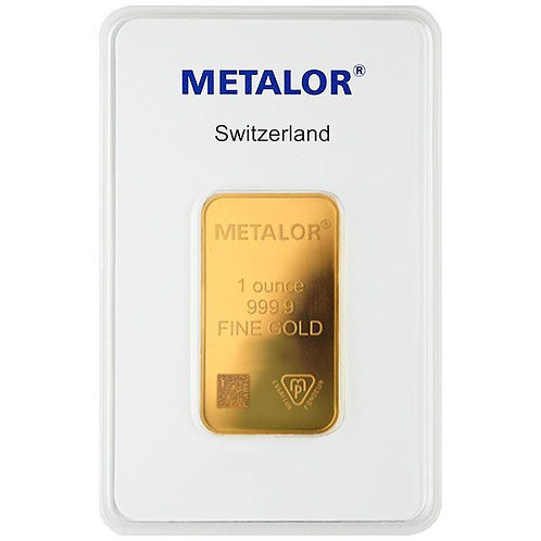 1 Ounce Gold Bar - Metalor