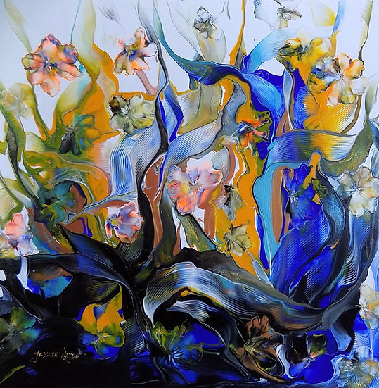 YELLOW MELLOW BLUE BREAKTHROUGH - Jadwiga Hajdo