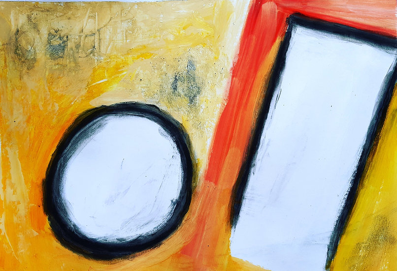 ABSTRACT CIRCLE AND SQUARE - Ivor Lawrence