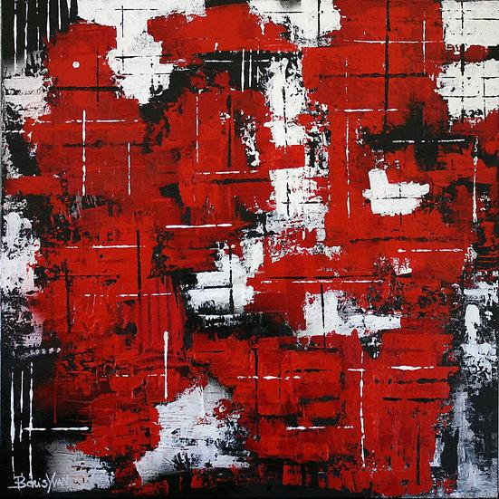 ABSTRACT BLACK, RED, WHITE #2 - Boris Yvan