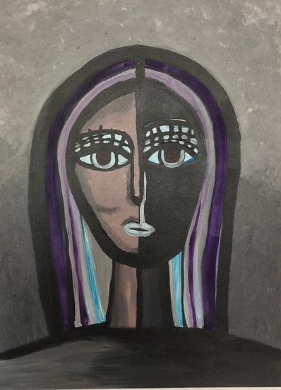 GIRL WITH THE INDIGO HAIR - Veronica Joseph
