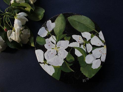 """Crabapple Blossoms"" original oil painting"