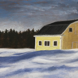 """Ochre Barn at the Trailhead"""