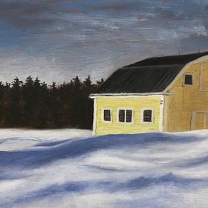 """Ochre Barn at the Trailhead"""