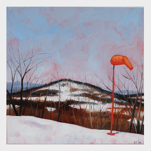 """Summit Helipad"" 12x12 original oil painting"